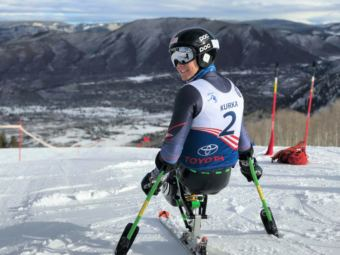 Andrew Kurka of Palmer won gold for men's downhill, sitting, in the Winter Paralympic Games in PyeongChang, South Korea, on March 10, 2018. It was the first medal ever for an Alaskan at the Winter Paralymic Games.