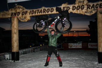 Jay Petervary of Idaho wins the human-powered, 1,000-mile Iditarod Trail Invitational with his fat-tire bike with a time of 16 days, 23 hours and 45 minutes. It's his third win and fourth finish in Nome.