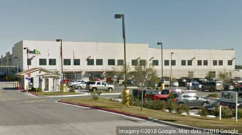 A device in a package exploded inside this FedEx facility in Schertz, Texas, northeast of San Antonio. The package was being sent to Austin