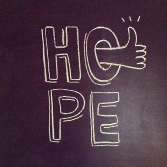 hope chalkboard