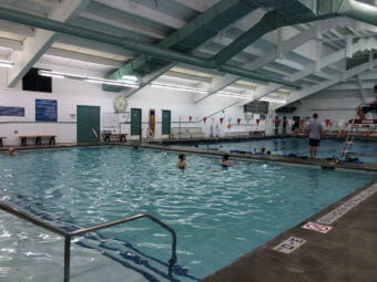 The Augustus Brown facility includes two pools, a sauna and an exercise area. (Photo by Aaron Russell)