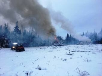 The Kenai National Wildlife Refuge has been working over the winter to finish a fire break near Sterling. (Photo courtesy Kenai National Wildlife Refuge)