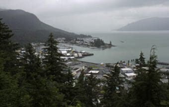 Wrangell as seen from Mount Dewey on July 24, 2014.