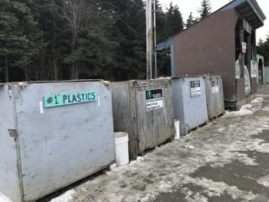 The Recycle Center in Haines on March 22, 2018. (Photo by KHNS)