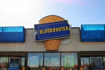 Blockbuster on Debarr Road in Anchorage is one of the few remaining in the U.S. (Photo by Emily Russell/Alaska Public Media)