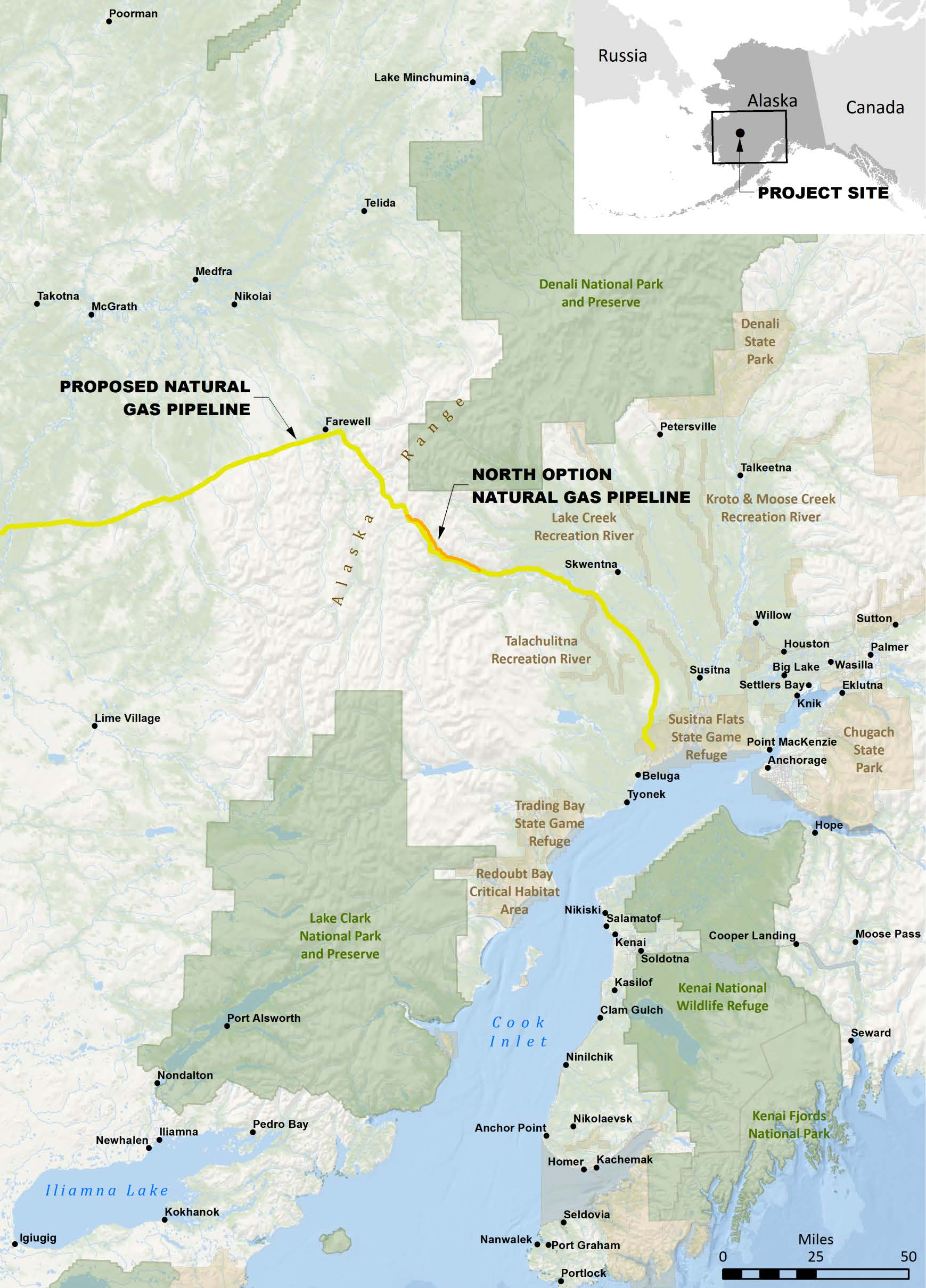 Donlin Gold Project Natural Gas Pipeline Map Ktoo