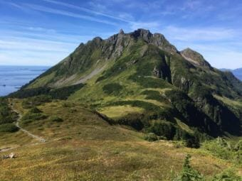 Harbor Mountain is an alpine area accessible by road, which aided Sitka Mountain Rescue in reaching the hiking party more quickly. (Courtesy of Sitka Trail Works)