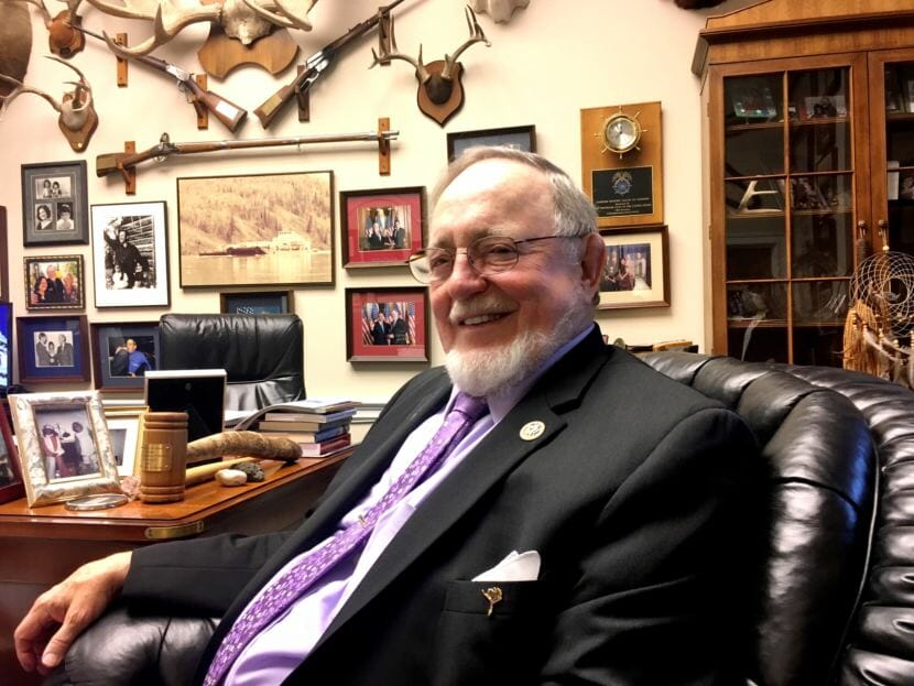 U.S. Rep. Don Young, R-Alaska, in his office in Washington, D.C., in 2017.