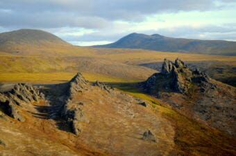 The Serpentine Tors in western is likely a similar landscape to what the first Alaskans encountered 20,000 years ago. (Photo courtesy National Park Service, Alaska)