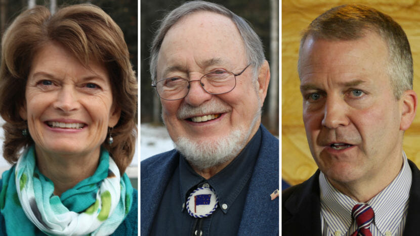 Alaska's congressional delegation: Sen. Lisa Murkowski, Rep. Don Young, and Sen. Dan Sullivan.
