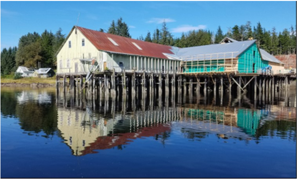 The cannery in summer 2017 after repairs. (Photo courtesy Gary Williams)