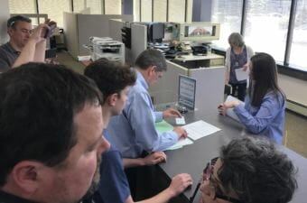 Democrat Mark Begich files to run for governor of Alaska in Anchorage on June 1, 2018. Begich had about 30 minutes before the deadline.