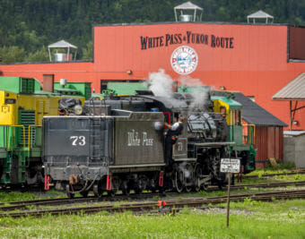 One end of the White Pass and Yukon Route railroad is in Skagway, pictured here on July 14, 2014.