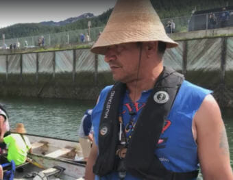 Doug Chilton is president of One People Canoe Society. He talks about the preparation the group made to travel from various Southeast Alaska communities to Juneau. Tuesday, June 5, 2018. (Video still by David Purdy/KTOO)