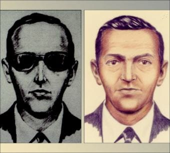 D.B. Cooper in FBI composite sketches. (Images courtesy FBI archives)