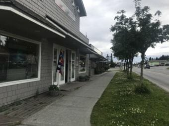 Shops line Pioneer Avenue in Homer (Photo by Aaron Bolton/KBBI)