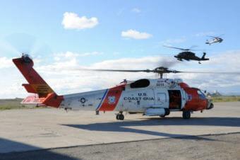 A Coast Guard MH-60 Jayhawk rescue helicopter in Kotzebue. (Photo by Petty Officer 3rd Class Walter Shinn/U.S. Coast Guard)