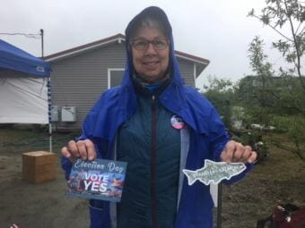 Bethel resident Beverly Hoffman is one of a handful of community members educating the community about Stand For Salmon.