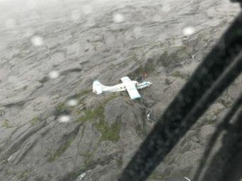 A downed plane on Mount Jumbo July 10 on Prince of Wales Island. (Photo courtesy U.S. Coast Guard)