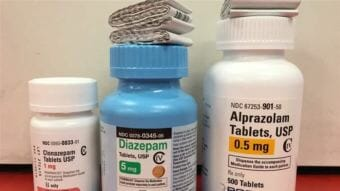 Clonazepam (traded as Klonopin), diazepam (Valium) and alprazolam (Xanax) are among the class of widely prescribed anti-anxiety medications known as benzodiazepines. Addiction treatment experts say teens are abusing the drugs and mixing them with opioids and alcohol. (Photo by Pew Charitable Trusts)