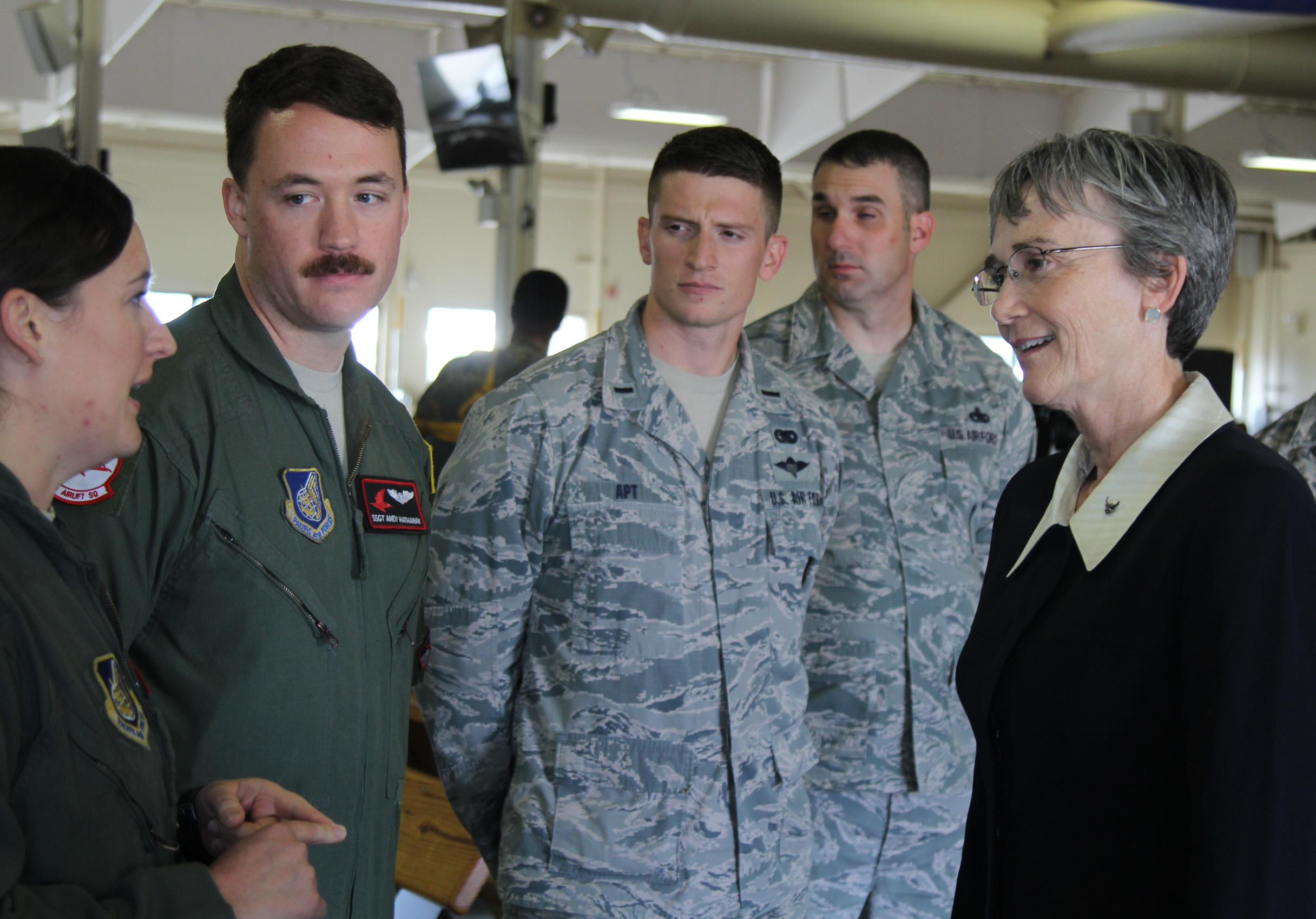 20180809 Air Force Secretary Heather Wilson visiting Air