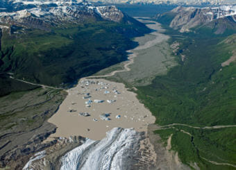 Nizina Glacier and River. (Creative Commons photo by Richard Droker)