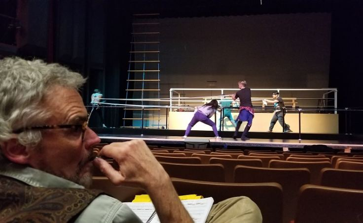 Librettist Dave Hunsaker looks on during a rehearsal of 'The Princess Sophia,' an original opera about the 1918 Alaskan maritime disaster. (Photo courtesy of Orpheus Project)