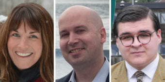 "Elizabeth ""Ebett"" Siddon, Paul Kelly and Kevin Allen are candidates for Juneau School Board in the Oct. 2, 2018, municipal election."