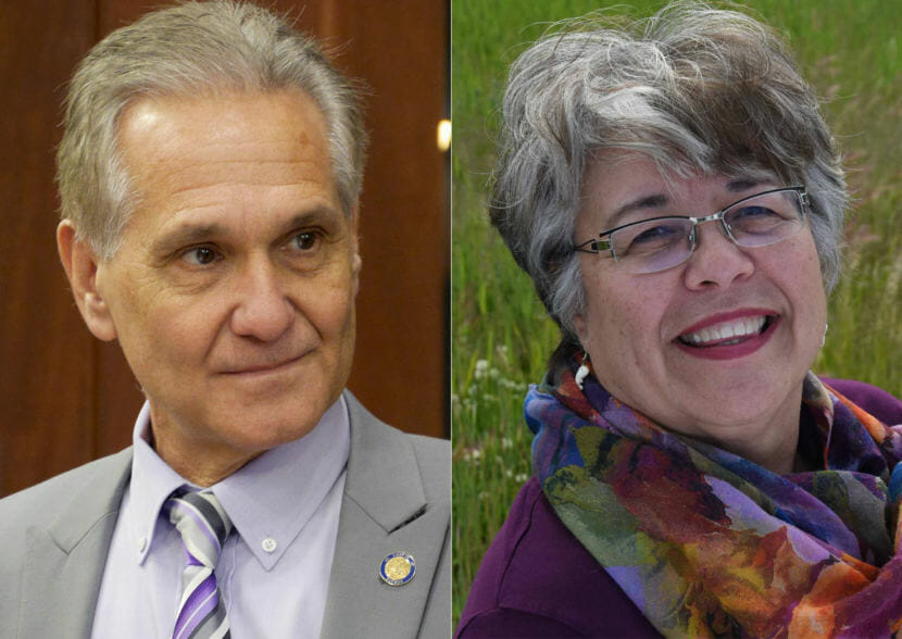 Candidates for Alaska Lt. Governor: Republican Kevin Meyer (left) and Democrat Debra Call.