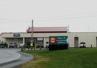 Exterior photo of the Kanakanak Hospital in Dillingham, Alaska.