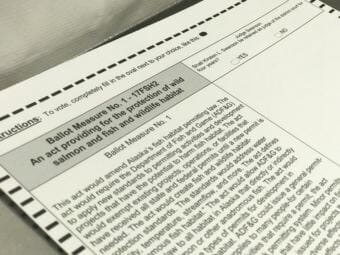 Photo of 2018 general election ballot showing the text of Ballot Measure 1.