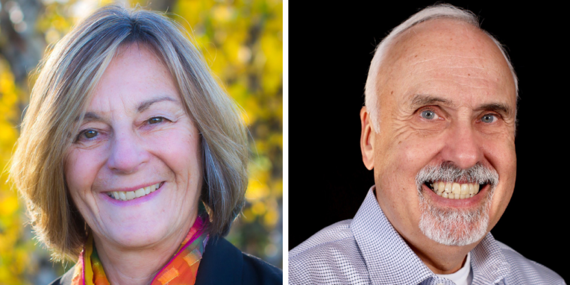 Democrat Kathryn Dodge and Republican Bart LeBon are tied in the election for the Alaska House race to represent downtown Fairbanks. (Dodge photo courtesy of Kathryn Dodge and LeBon photo courtesy of Bart LeBon)