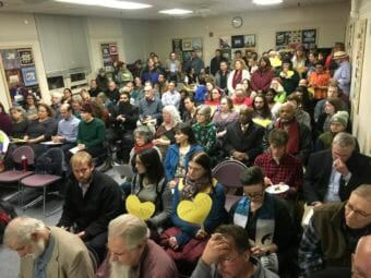 Opponents and advocates of the proposed anti-discrimination ordinance packed the City Council meeting chambers for Monday night's public hearing.