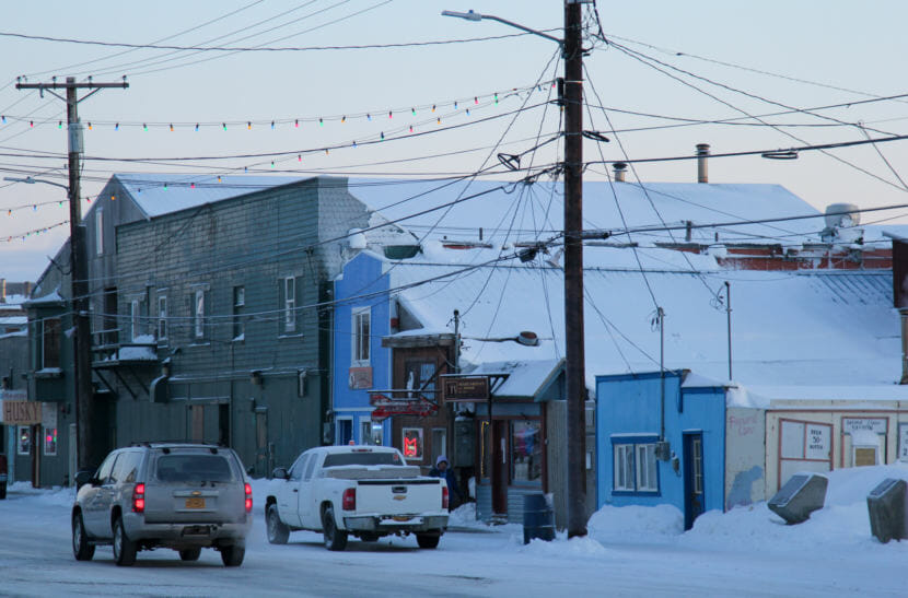 Front Street in Nome, January 2018.