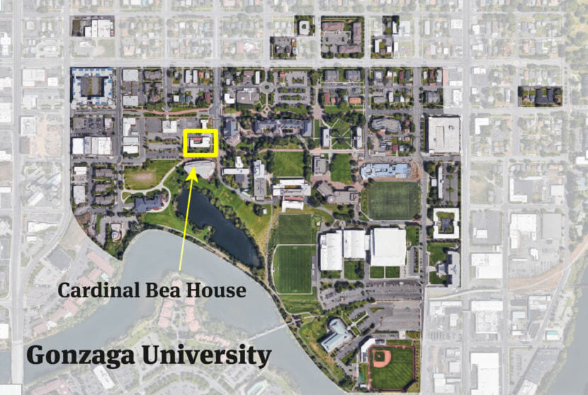While Cardinal Bea House appears on Gonzaga campus maps and is listed in the campus directory, it's not officially part of the private Jesuit university.