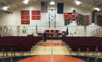 The gymnasium at Aqqaluk High and Noorvik Elementary School will host Gov.-elect Mike Dunleavy's swearing-in ceremony on Monday morning.