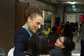 Danielle Riha, the 2019 Alaska Teacher of the Year, was selected as one of four finalists for National Teacher of the Year. (Photo by Wesley Early/Alaska Public Media)