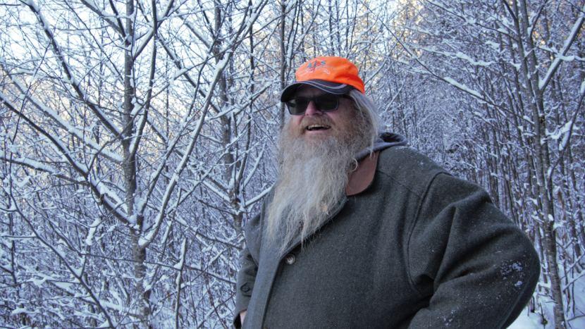 Garritt McLean catches his breath along the Lemon Creek Trail in Juneau on Jan. 8, 2019.