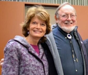 Sen. Lisa Murkowski and Rep. Don Young in 2014. (Photo by Jennifer Canfield/KTOO)