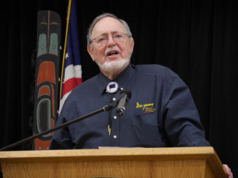 U.S. Rep. Don Young, R-Alaska, speaks at a Native Issues Forum in Juneau, April 5, 2016.