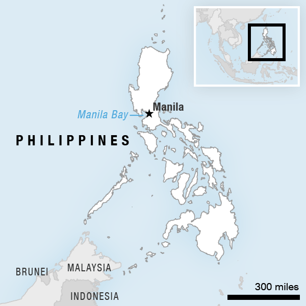 Map of the Philippines.