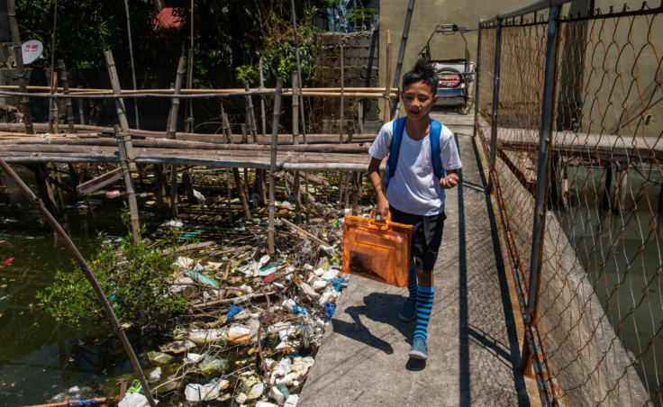 Dampalit, a fishing community in Manila Bay, has to contend with a constant influx of trash that it can't keep up with.