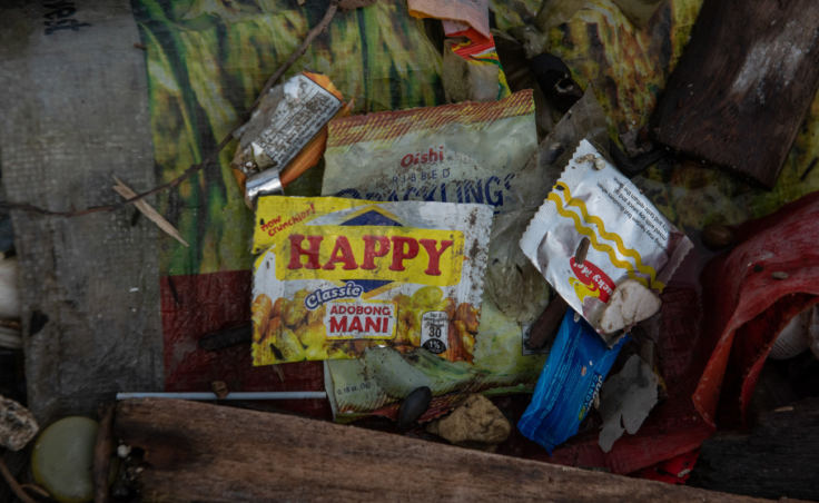 Sachets like these, developed to market consumer goods to the poor, have become ubiquitous all over Asia. (Photo by Jes Aznar for NPR)