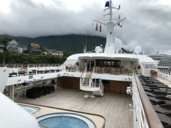 The deck of Windstar Cruises' Star Legend in 2018.