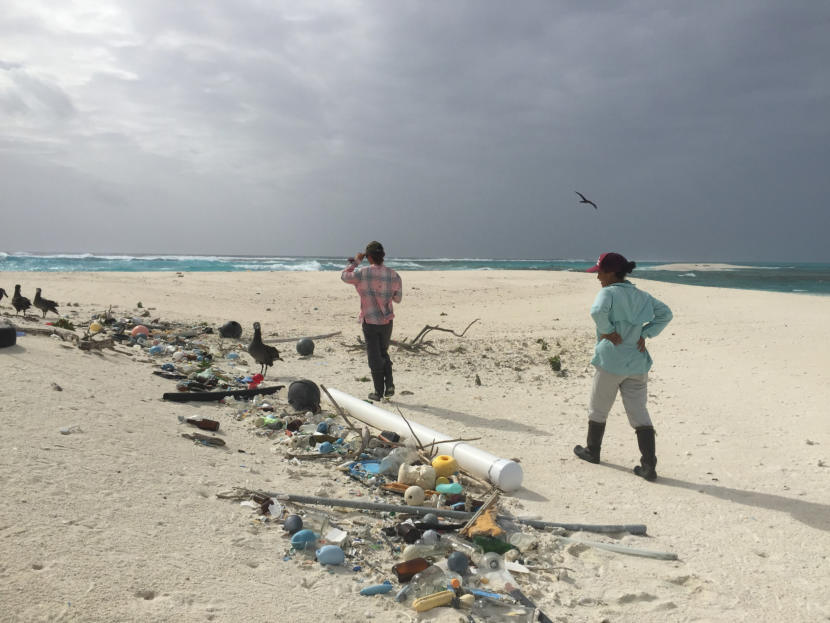 The small community of researchers who live on Kure Atoll in Hawaii continually collect nets, entanglement hazards, and other debris from its beaches.