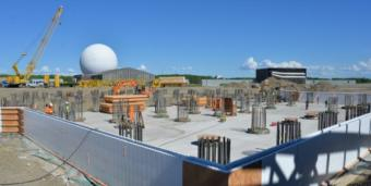 Construction is underway at Clear Air Force Station on a $347 million Long Range Discrimination Radar complex. (2018 photo by John Budnik, U.S. Army)