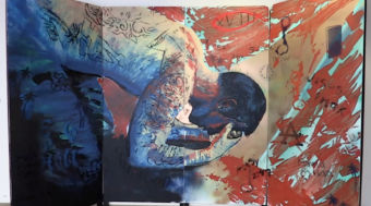 A mural created by students at the University of Alaska Anchorage about adverse childhood experiences.