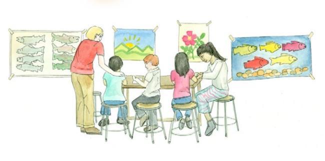 Alaska artist Kristin Link illustrated the Alaska Dept. of Education & Early Development's framework for helping students deal with trauma, released Jan. 28, 2019. (Illustration by Kristin Link, used with permission)