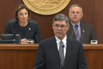 Alaska Supreme Court Chief Justice Joel Bolger delivered his first State of the Judiciary address Wednesday, Feb. 20, 2019.