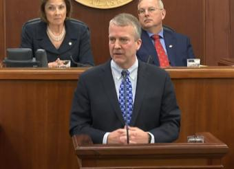 U.S. Sen. Dan Sullivan delivered his annual address to the Alaska Legislature on Thursday, Feb. 21, 2019.